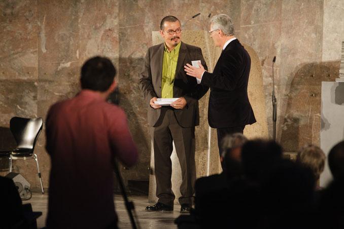 Preisverleihung IHP 2012, Peter Cachola Schmal, Dr. Rolf Kiefer, Foto: Fritz Philipp