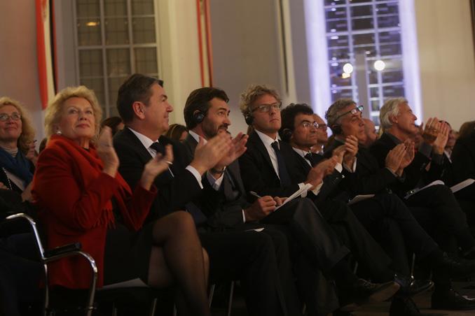l.t.r. Petra Roth, Michael Rüdiger, Manfredi Catella, Giovanni La Varra, Gianandrea Barreca, Stefano Boeri, photo: Alexander Paul Englert