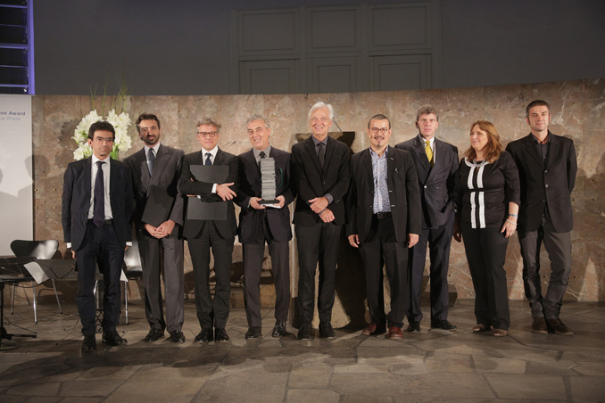 Gruppenfoto mit Preisträger Boeri Studio, Hines Italia, Laura Gatti, Foto: Alexander Paul Englert